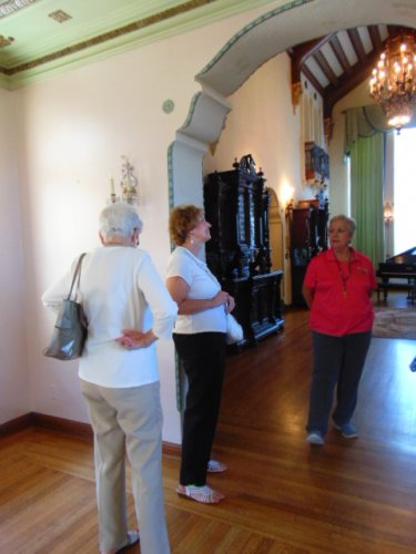 The tour at Grisso Mansion in Seminole, OK
