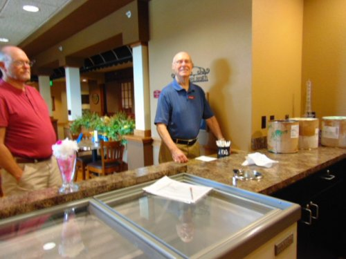 Buttered Pecan and Strawberry ice cream are popular here. The residents can't get enough of it