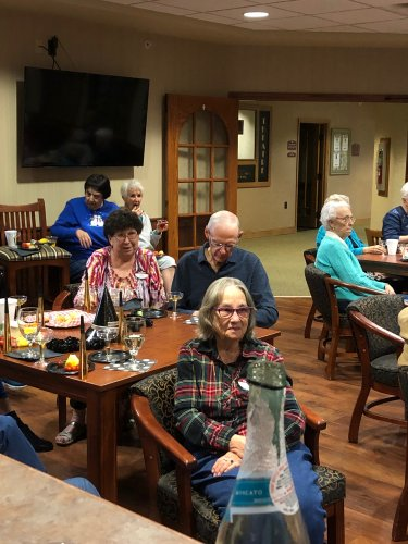 Residents at our New Year's Eve party