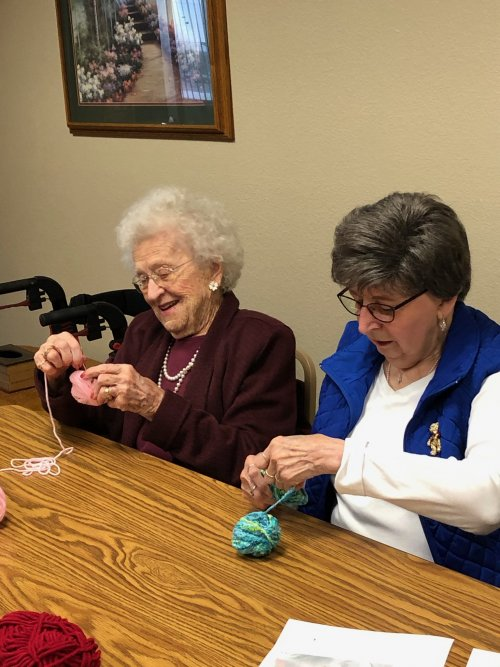 It's time for Valentines!  Lois and Dee are busy making wrapped hearts!  How fun!