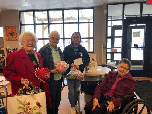 Primrose residents make and donate dog and cat toys for animals at the Sioux Falls Humane Society for the holidays!