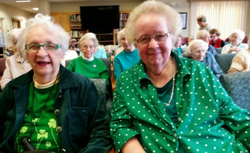 Resident's wearing green in honor of St. Patty's Day!