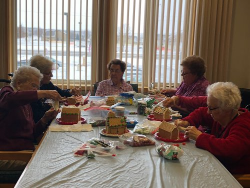It is that time of the year and the Sioux Falls residents are working hard on their Gingerbread houses!