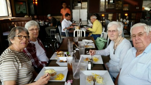 Joyce, Sharon, Sally & Virgil enjoying lunch at Kra'vn in Sioux Falls.