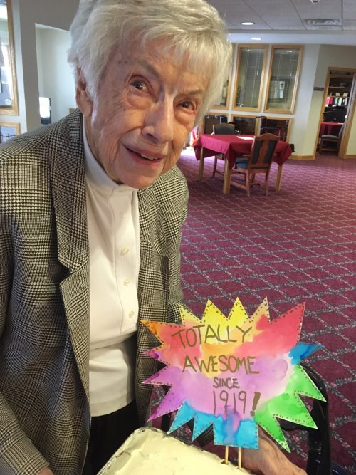 Lu Raymond turns 100 years old on Saturday!  What a great life she has had!