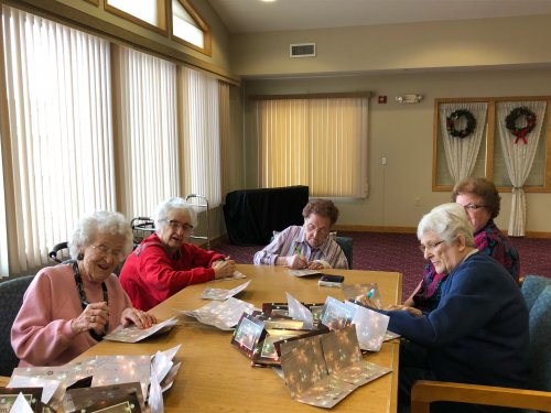 Sioux Falls residents singing Christmas Cards for our veterans at the VA Hospital.  We hope they have a wonderful holiday season!