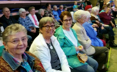 Primrose ladies waiting for the Shrine Circus to begin in Sioux Falls.