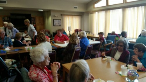 Primrose residents, friends, and family enjoy music and treats at Lou's 60th Birthday Party!