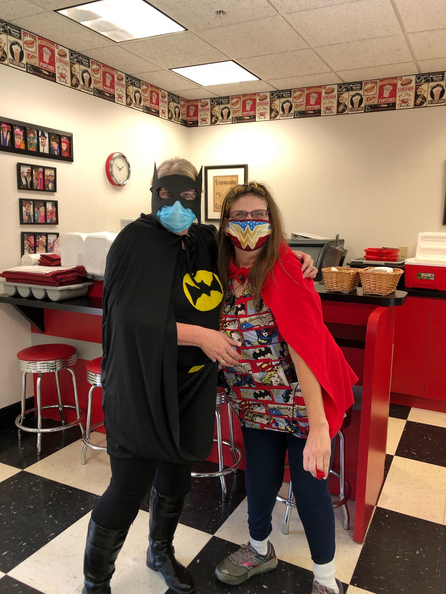 Staff enjoyed celebrating Superhero Day!