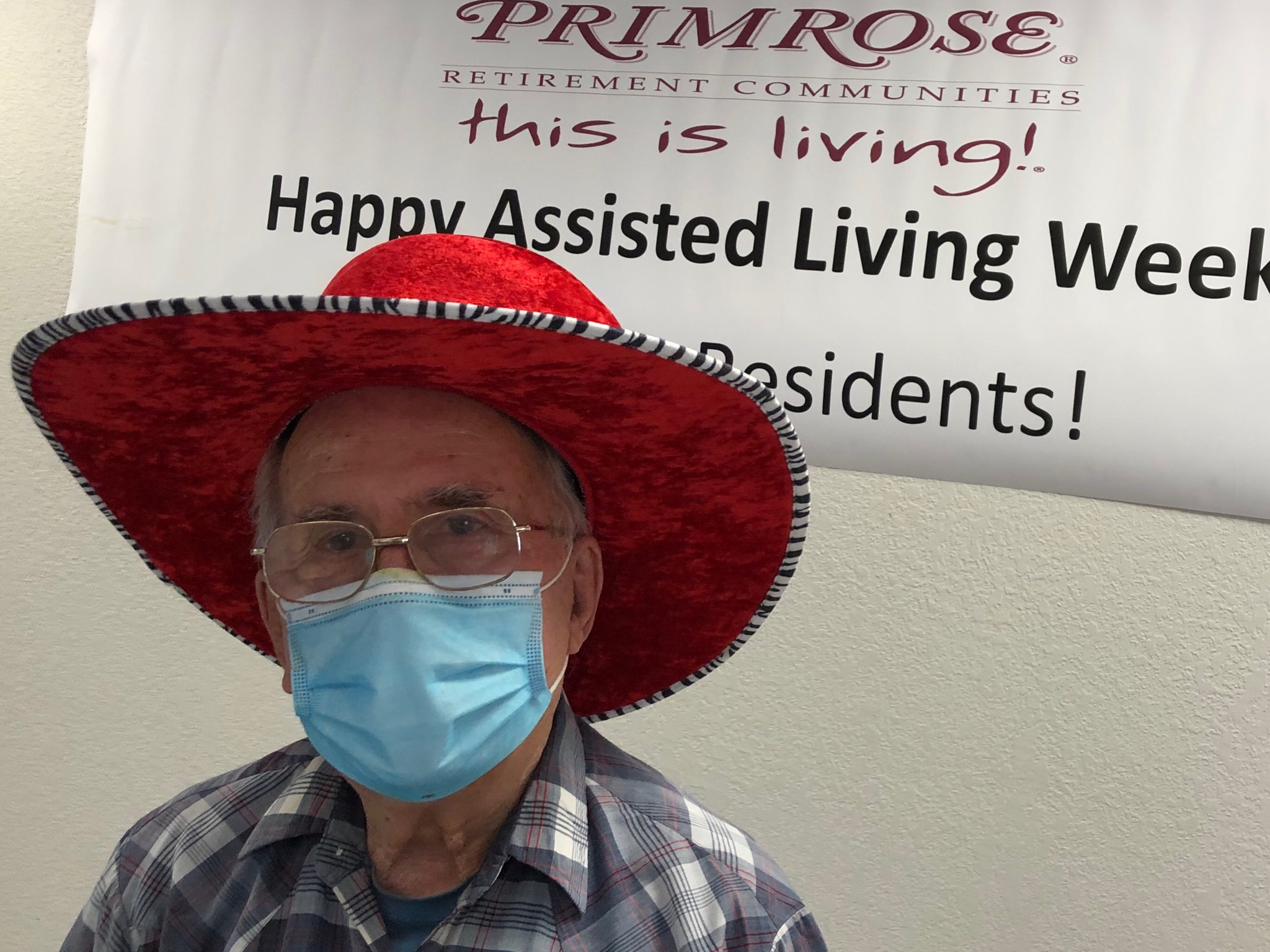Forrest chose this hat for National Assisted Week!