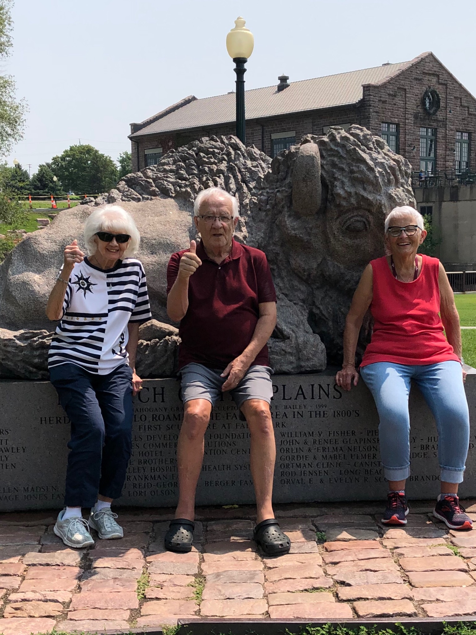 Residents enjoying the Falls Park in Sioux Falls!