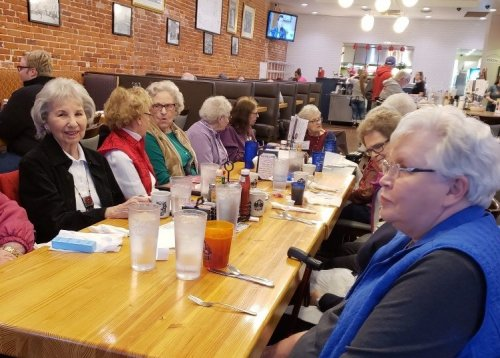 The Ladies Coffee group went out this past month for breakfast.