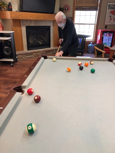 A game of pool is always fun!