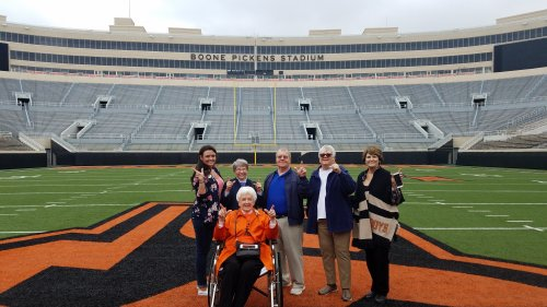 Tour of Boone Pickens Stadium at OSU.