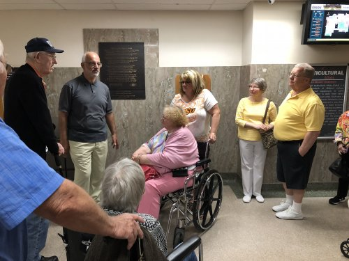 Residents took a tour of the Student Union at Oklahoma State University.
