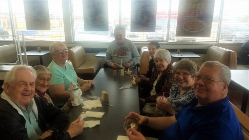 Enjoying some ice cream after a successful trip to the OSU campus. Random Acts of Kindness Day 2018.