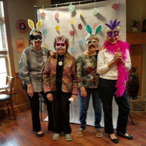Residents enjoyed an Easter themed photo shoot.