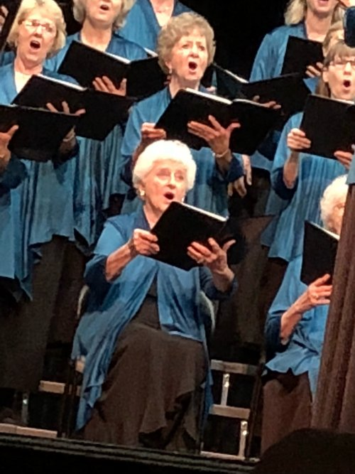 Two of our residents sing with the Stillwater Community Singers, here is miss Jo Martindale during their Fall concert.