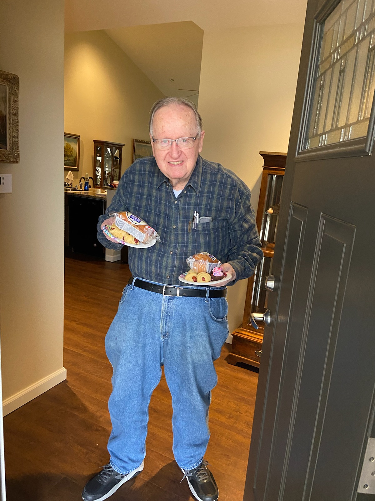 Heritage Hospice provides breakfast to resident David G. in his home.