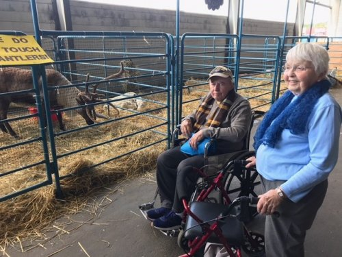 Resident Bob and JEan at the Alaska State Fair.