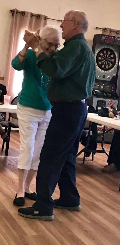Dancing at the American Legion for the Senior Dance.