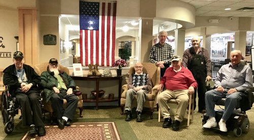 Some of our Veterans on Veterans Day.