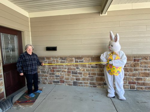 Easter Bunny made special lunch deliveries to brighten our residents day!