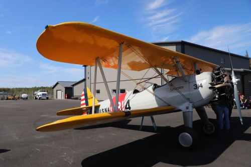 This is the Stearman biplane our Veterans were able to ride in. Thank you to Tyson (owner) and Ageless Aviation Dream Foundation for making memories happen for our Veterans, Veterans Spouses, and for some of our Primrose Staff!