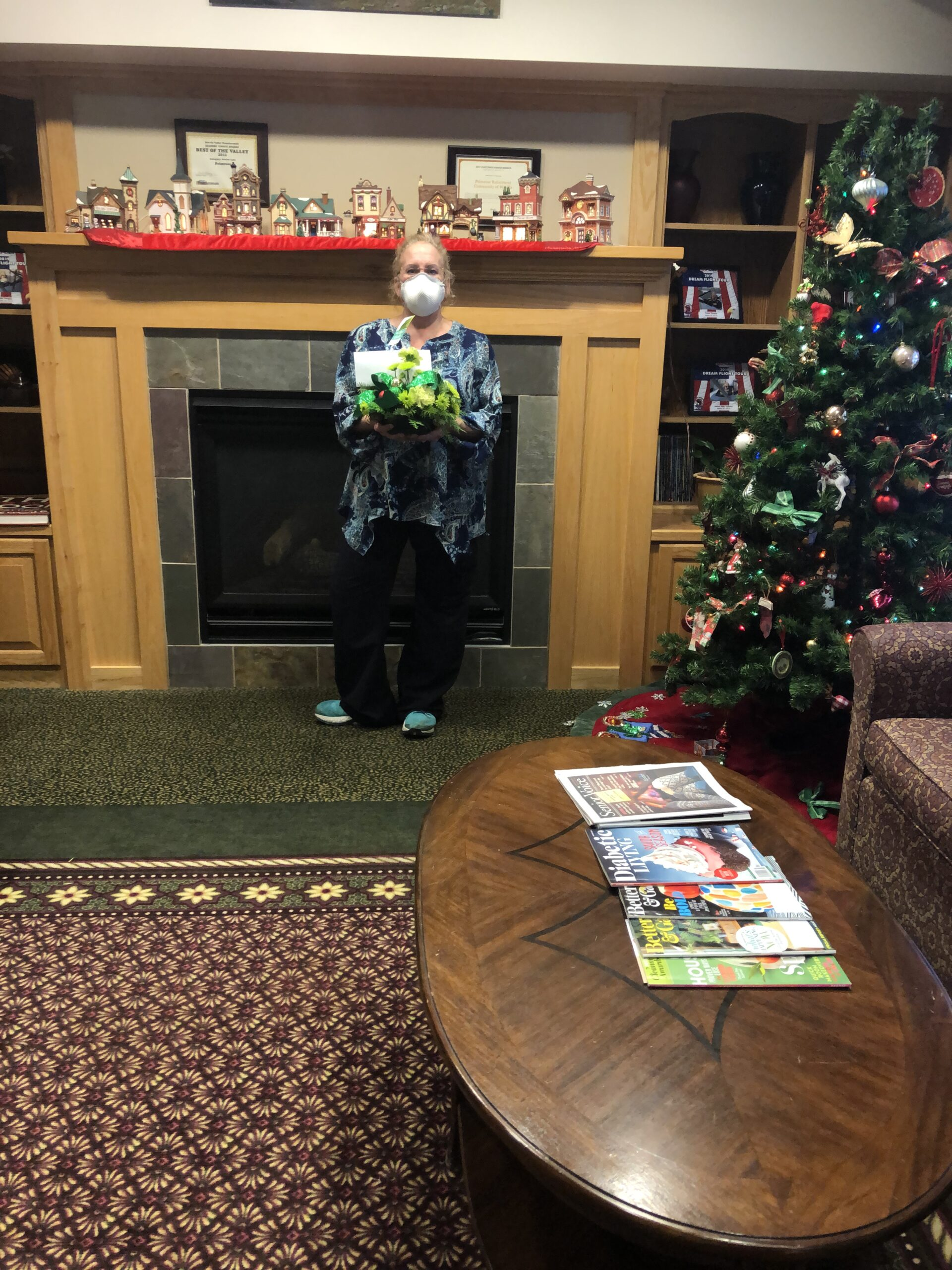 Every resident received fresh flowers from a local florist at Christmas
