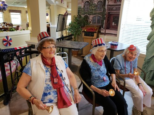 Primrose's very own hand bell choir performed patriotic songs. They did a really good job!