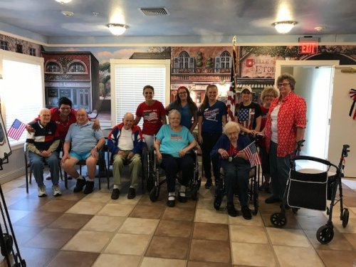 Primrose Staff and Residents Really Enjoyed the Memorial Weekend.