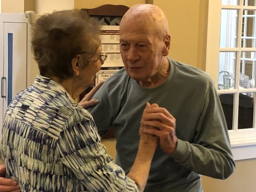 Gordon and Shirley have been married 70 years and continue to dance together.