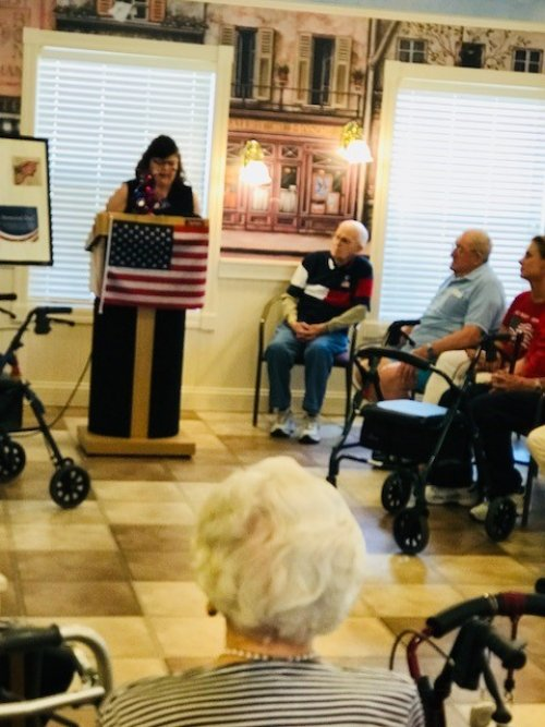 Memorial Day 2018 Ceremony put on by Primrose Staff and Residents.