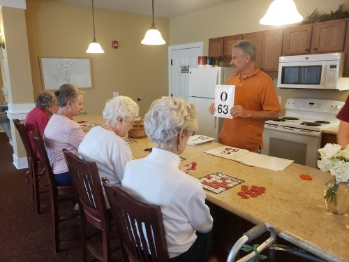 Rick the PMT, even steps in to help out with Bingo. Hopefully he 'shook them up'!
