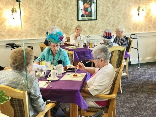 Resident's and staff dressed up for the special day.