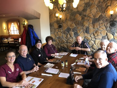 Veterans enjoy a complimentary meal at Olive Garden on Veteran's Day.