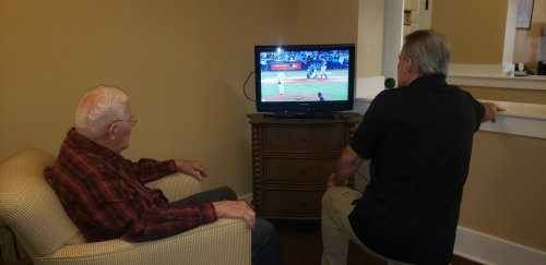 Bob and Rick from Maintenance both talk about the baseball game. Go Brewers!
