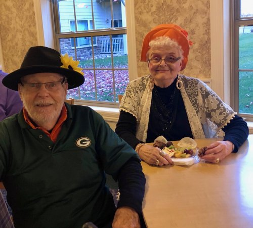 Delores and Dave enjoying our Halloween Party