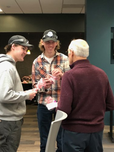 Don spreading kindness to students at NTC