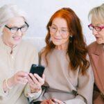 Senior women using smartphone