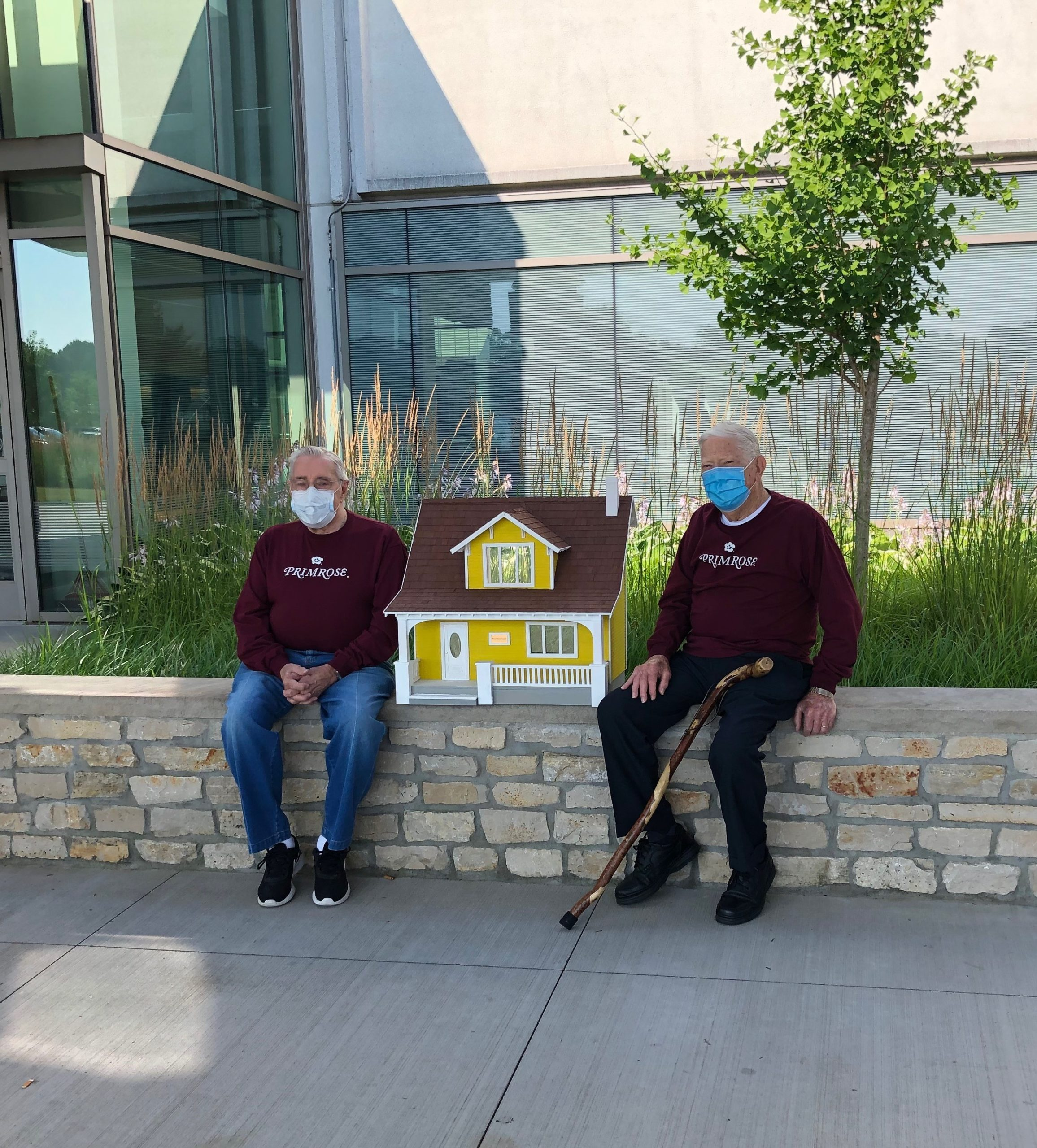 Terry and George donated the doll house they built to a local hospital.