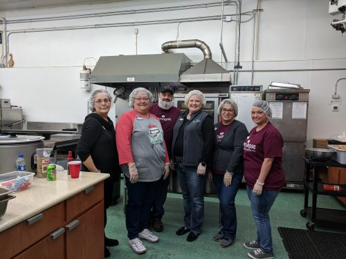 Primrose Management Team served lunch on Wednesday at Christ Table.