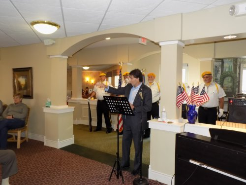 Ohio State Senator Troy Balderson speaking during our Annual Veteran's Day Breakfast