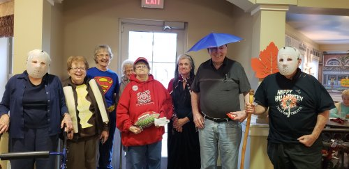 Primrose residents dressed for Halloween