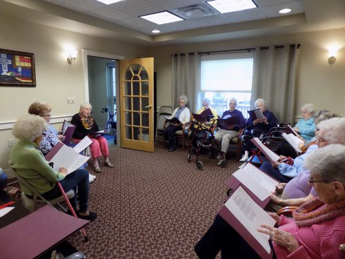 Residents participating in Elder Song Sing-A-Long