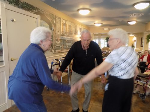 Ed, Billie and Irene all sharing a dance!