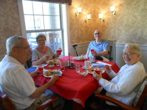 Tom, Barb, Jim and Sue loving their Labor Day lunch!