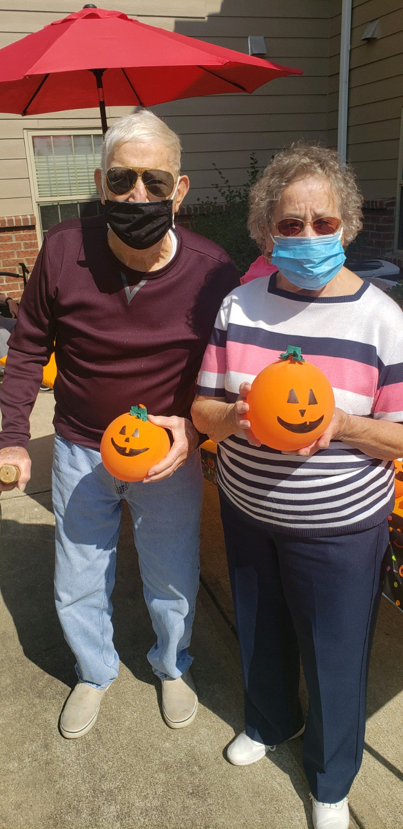 George & Mary with their pumpkins they picked at our Primrose Pumpkin Patch!